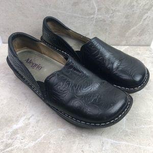 Alegria 'Deb' black leather comfort shoes, 12
